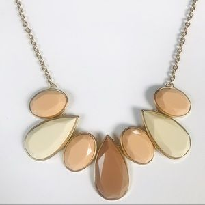 🆕 Brown and Tan Gem Statement Necklace